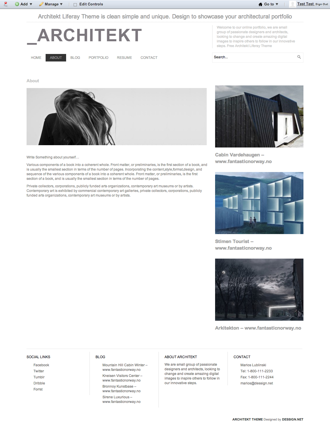 liferay templates free - woodbench media handcrafted websites and other front end